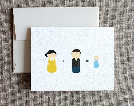 Carte de félicitations pour le bébé poupée Peg par joliejoliedesign