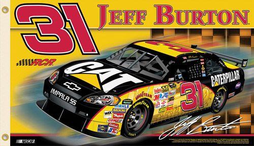Jeff Burton BURTON NATION Giant 3'x5' NASCAR Flag - #31 Ray Childress Racing Chevrolet - available at www.sportsposterwarehouse.com