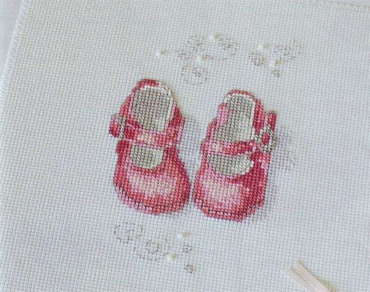 Туфли вышивка крестик схемы