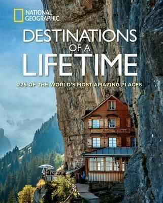 Destinations of a Lifetime: 225 of the World's Most Amazing Places by National Geographic.  National Geographic takes you on a photographic tour of the world's most spectacular destinations, inspiring tangible ideas for your next trip. Hundreds of the most breathtaking locales--both natural and man-made--are illustrated with vivid images taken by the organization's world-class photographers. These images, coupled with evocative text, feature a plethora of visual wonders.