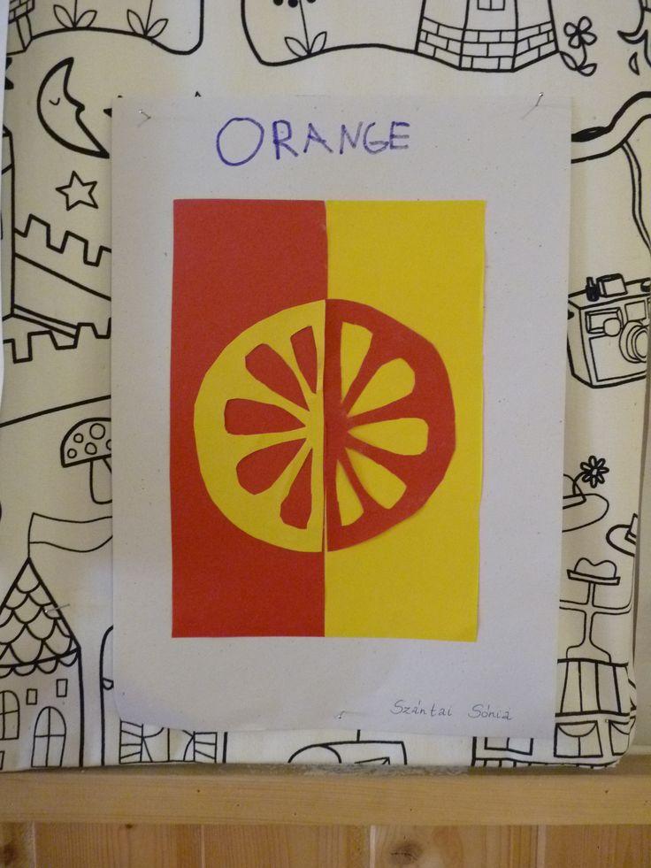 Narancs- színek negatívjai