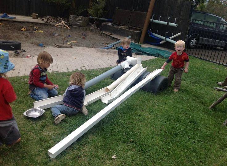 The power of loose parts outdoors, from Welcome Bay Kindergarten. https://www.facebook.com/welcomebay.kindergarten/timeline
