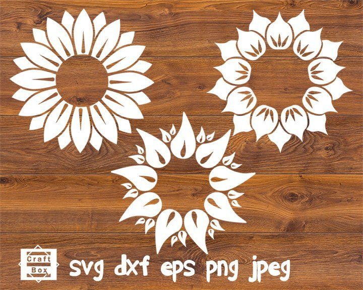 Sunflower Bundle Sunflower Svg Flower Svg Flower Design Etsy Flower Svg Sunflower Template Sunflower Clipart