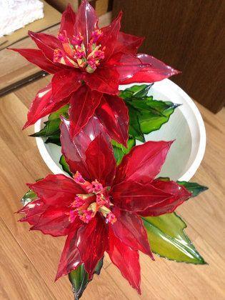 Flor de navidad en plastico