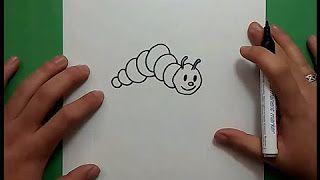 como dibujar un gusano - YouTube