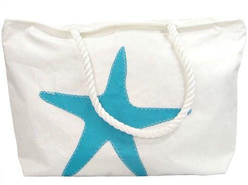 Starfish Sail Cloth Bag: http://beachblissliving.com/best-beach-bags/