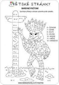 Barevné počítání: Indián s totemem
