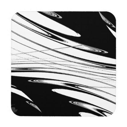 Black and White Modern Coaster - black and white gifts unique special b&w style