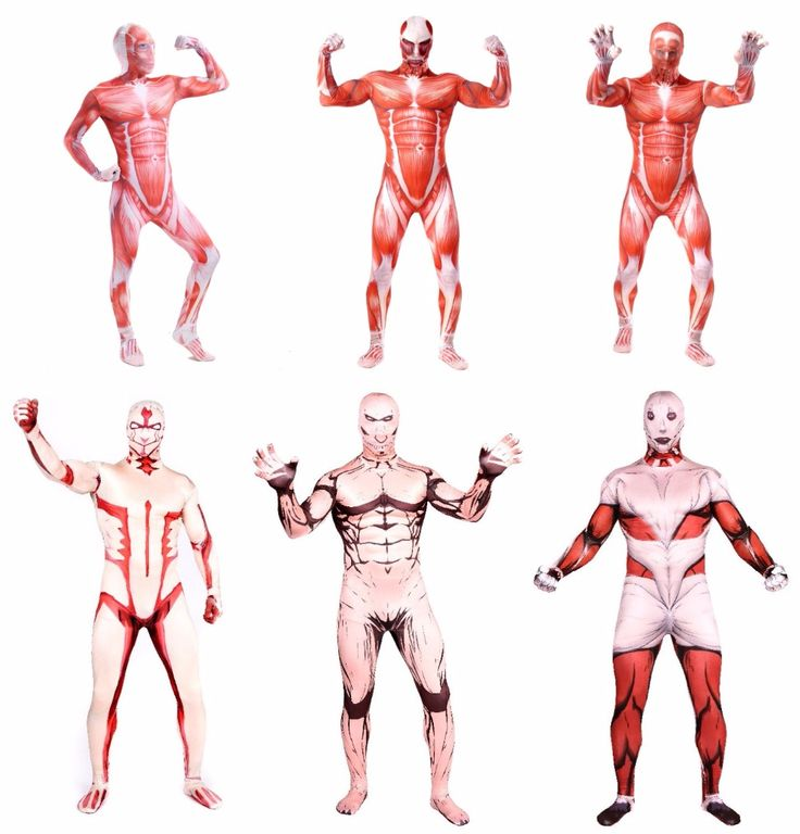 attack on Titan 2  /Shingeki no Kyojin  red Muscle Man Lycra  Spandex  Multi-Color  zentai suits  Halloween costumes  cosplay #Costume #Cosplay