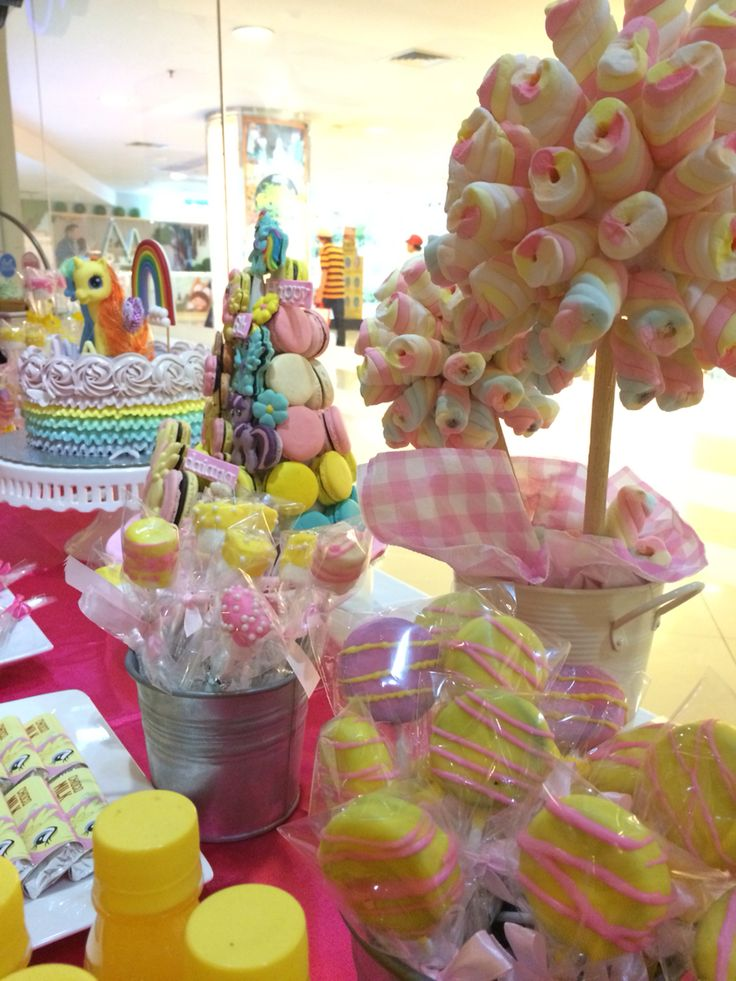 My Little Pony #desserttable #birthdayparty #kids #girls