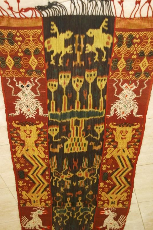 Collector Handspun Handwoven Sumba Hinggi Warp Ikat 8 ft Tapestry Waeo Songket 5 Collected in the field asmatcollection on ebay.com and bonanza.com cheetahdmr@aol.com if you have any questions.