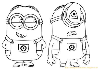 Aneka Gambar Mewarnai - 10 Gambar Mewarnai Minions Untuk Anak PAUD dan TK.   Gambar berikut adalah g...