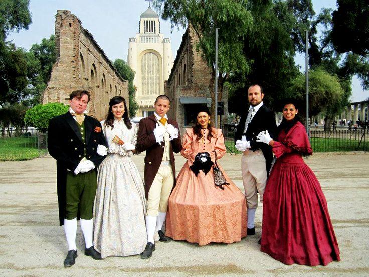 Evento 5 de Abril I.Municipalidad de Maipú, personajes del 1800