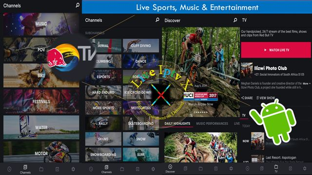 Best Streaming TV Online - Red Bull TV - Live Sports Music APK For Android Device ( Watch TV Stream Online )   Satellite TV : Free Streaming Live TV Channels [ Iptv APK] : Red Bull TV Apk - Movie Live TV APK - In this apk you can Watch Live Sports MusicEn