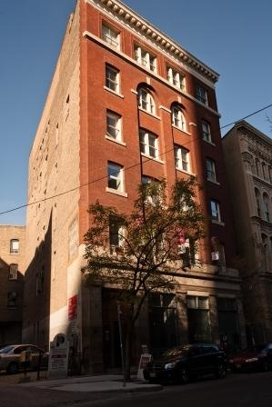Albert Street in the Exchange District in Winnipeg, and our building