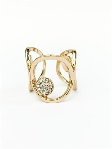 La Bella Donna - Γυναικειο δαχτυλιδι σε χρυσο χρωμα-Κύκλοι