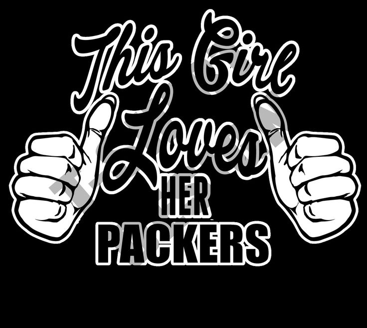 This Girl Loves Her Packers - PNG T-shirt design by MugsAndAccessories on Etsy