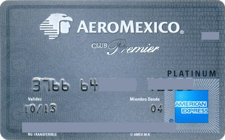 AEROMEXICO Premier Club Platinum (American Express, Mexico) Col:ME-AE-0017