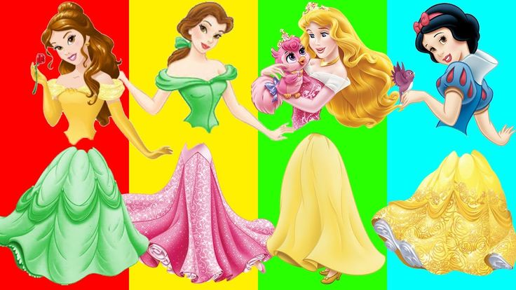 Wrong Dress Disney Princess Snow White Belle Ariel Finger Family Song An...