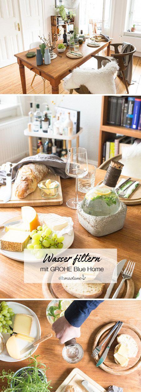 Den Abendbrotstisch schön decken, leckeres und gefiltertes Wasser dazu trinken? Ich erzähle euch auf dem Blog mehr zum Thema! #water #design #filter #dinner karaffe #