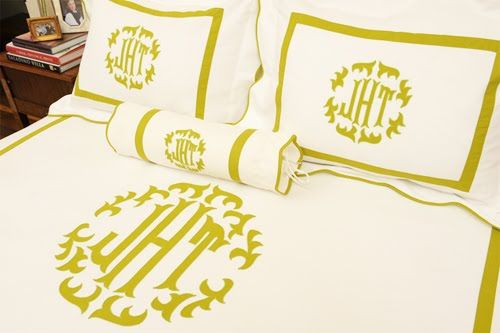 New Obsession: Monogrammed Bedding