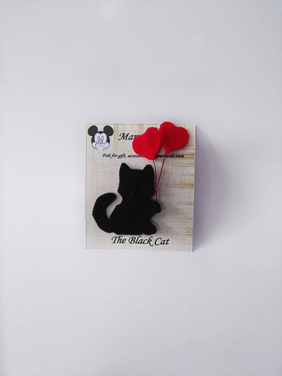 Hey, I found this really awesome Etsy listing at https://www.etsy.com/listing/545674379/brooches-or-pin-black-cat-love-for-gifts