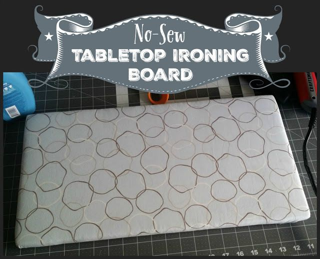 Reviews, Chews & How-Tos: No-Sew Tabletop Ironing Board