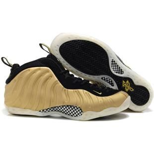 www.anike4u.com/ Nike Foamposite One Big Size US14 US15 Gold Black � Nike  FoampositeShoes ...