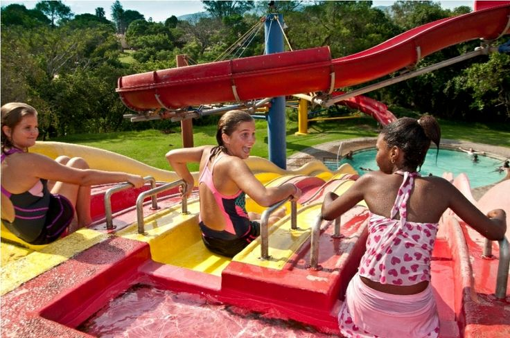 Slip down the water slides at Badplaas