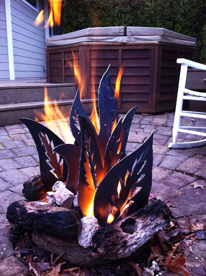 Fire pit - by night and day!