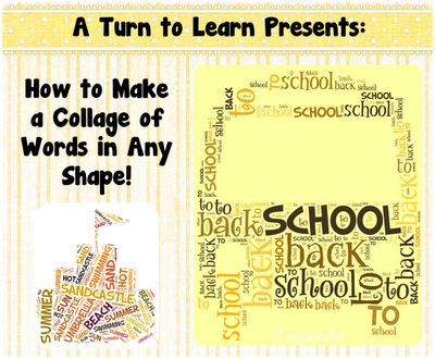 How to Make a Collage of Words in Any Shape: The Doors, Back To Schools, Pictures, Collage, Coolest Things Ever, Shape, Words Cloud, Step By Step, Classroom Ideas