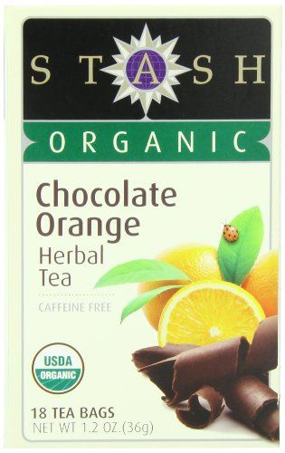 Stash Tea Company Organic Chocolate Orange Herbal Tea, 18 Count Tea Bags in Foil (Pack of 6) - http://goodvibeorganics.com/stash-tea-company-organic-chocolate-orange-herbal-tea-18-count-tea-bags-in-foil-pack-of-6/