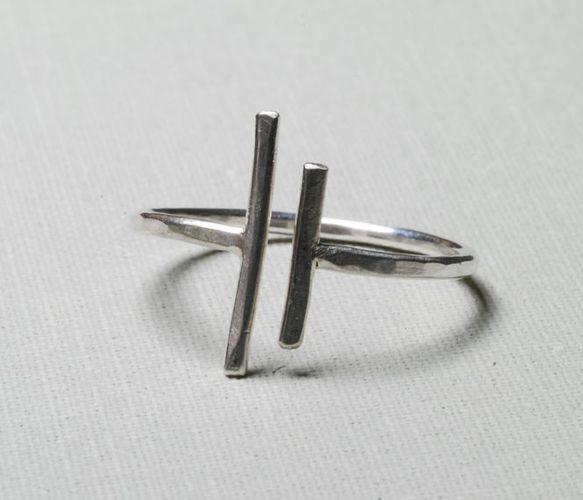 bague argent asymétrique - Unequal Ring