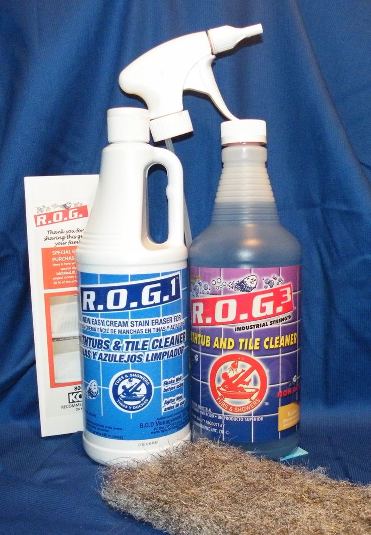 Great Cleaning Kit Comes With One 40 Ounce Quart Of Our ROG 1 Cream Cleaner  For Stubborn Stains Comes With One 32 Ounce Course Of Our ROG 3 Express  Bathroom ...