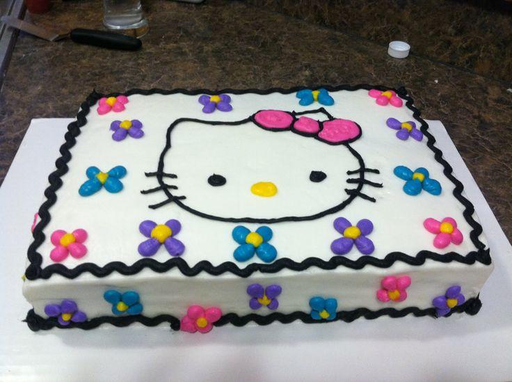 Image Detail for - Brandi Cakes: Hello Kitty sheet cake