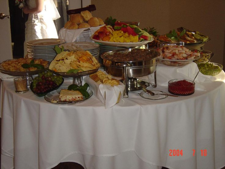 Simple Buffet Idea...could Do Several Tables