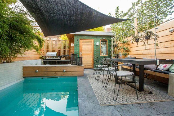 25 beste idee n over groene tegels op pinterest groene keuken interieurontwerp en koperen keuken - Deco tuin met zwembad ...