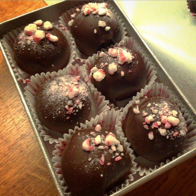 Minttusuklaatryffelit / Mint chocolate truffles
