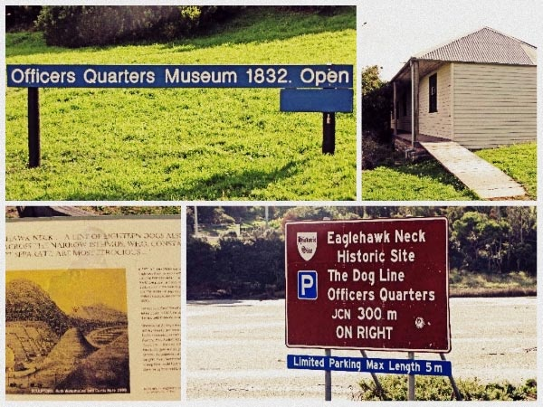 Dog Line and Officers Quarters Museum at Eaglehawk Neck.