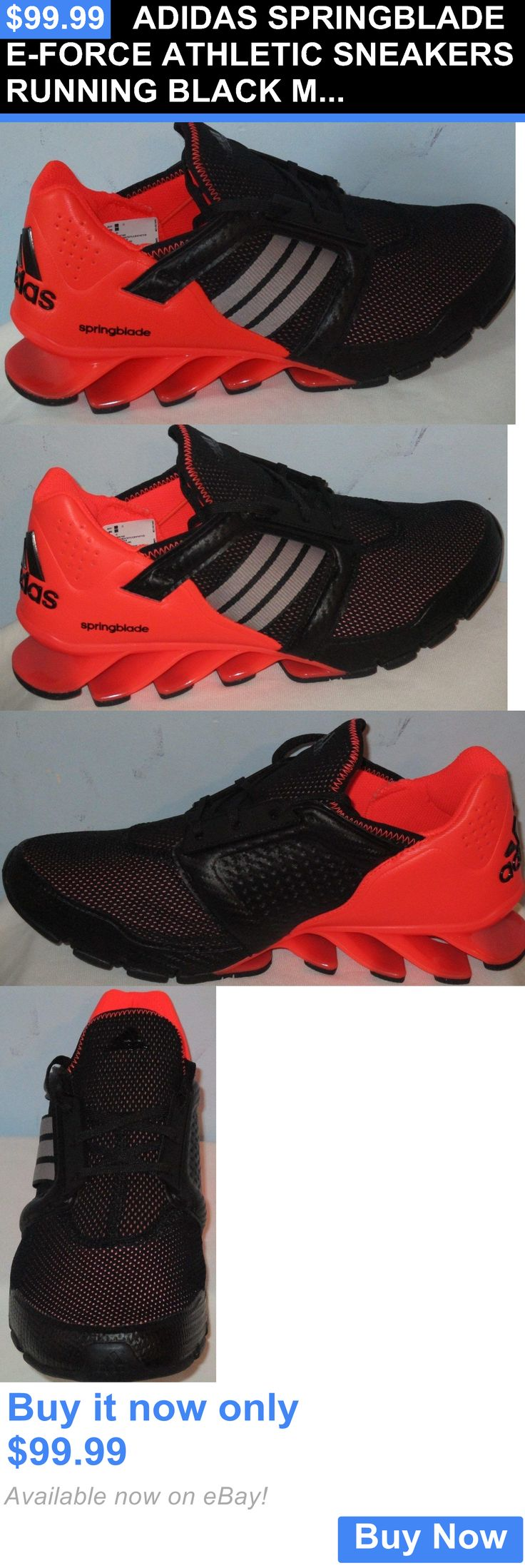 Men Shoes: Adidas Springblade E-Force Athletic Sneakers Running Black Men Shoes Size 9 BUY IT NOW ONLY: $99.99