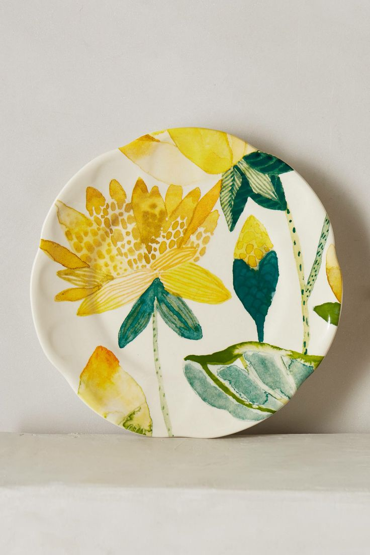 Garden Buzz Dessert Plate - anthropologie