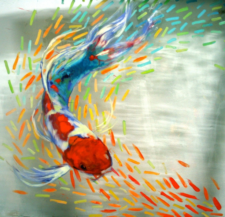 255 best images about koi on pinterest koi art japanese for Decorative pond fish crossword clue