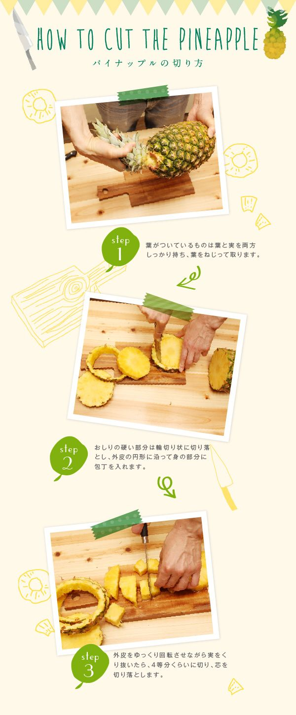 HOW TO CUT THE PINEAPPLE