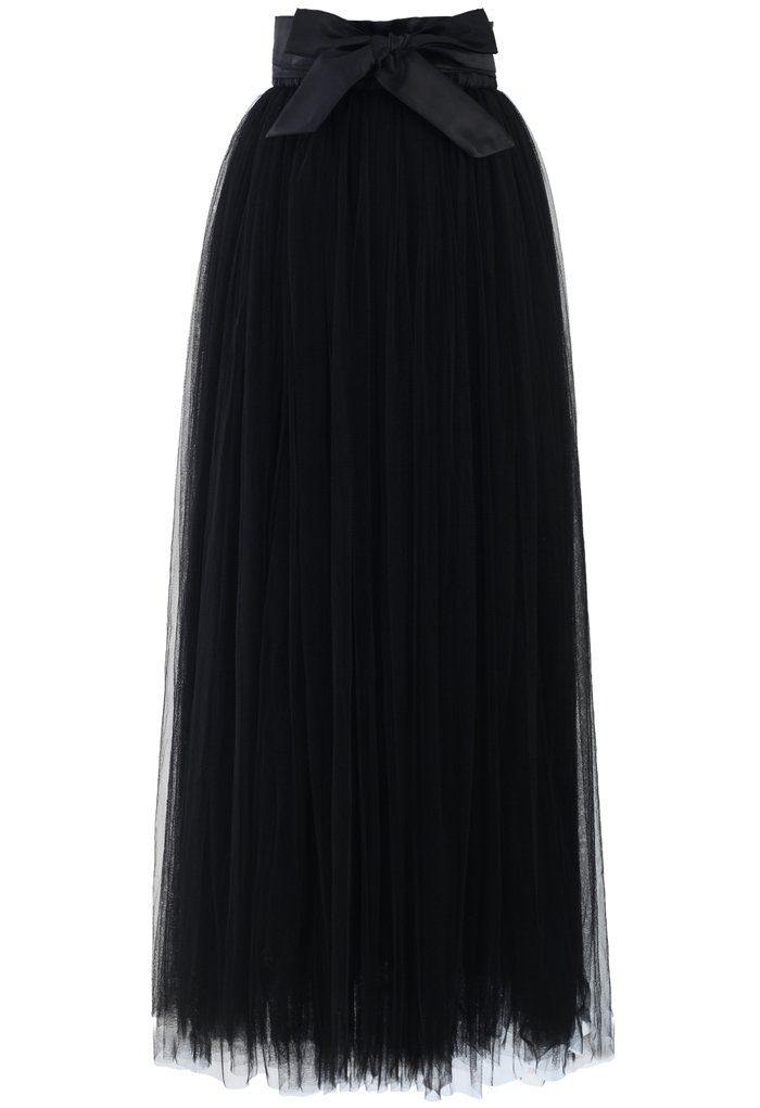Amore Maxi Tulle Prom Skirt in Black - Tulle Skirt - Trend and Style - Retro, Indie and Unique Fashion