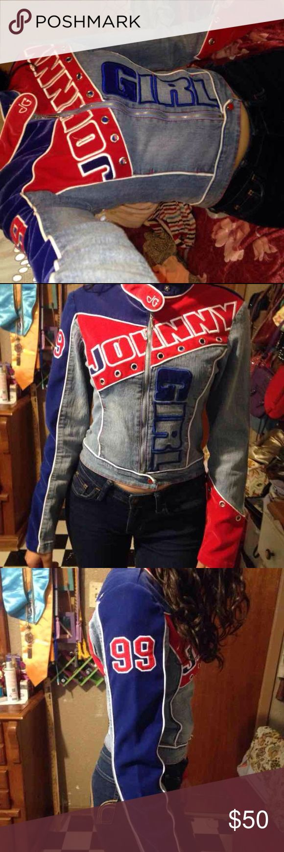 Johnny girl jacket Vintage jacket Leather and a suede material Size small Excellent condition #johnnygirl #jeanjacket #denimjacket #motorcyclejacket #motorcycle #nascarjacket #nascar #vintage #vintagejacket johnny girl Jackets & Coats Jean Jackets