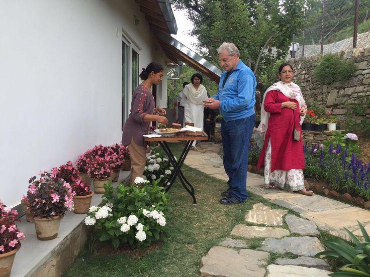 1st Anniversary celebration June 2016; Prashad after Meditation