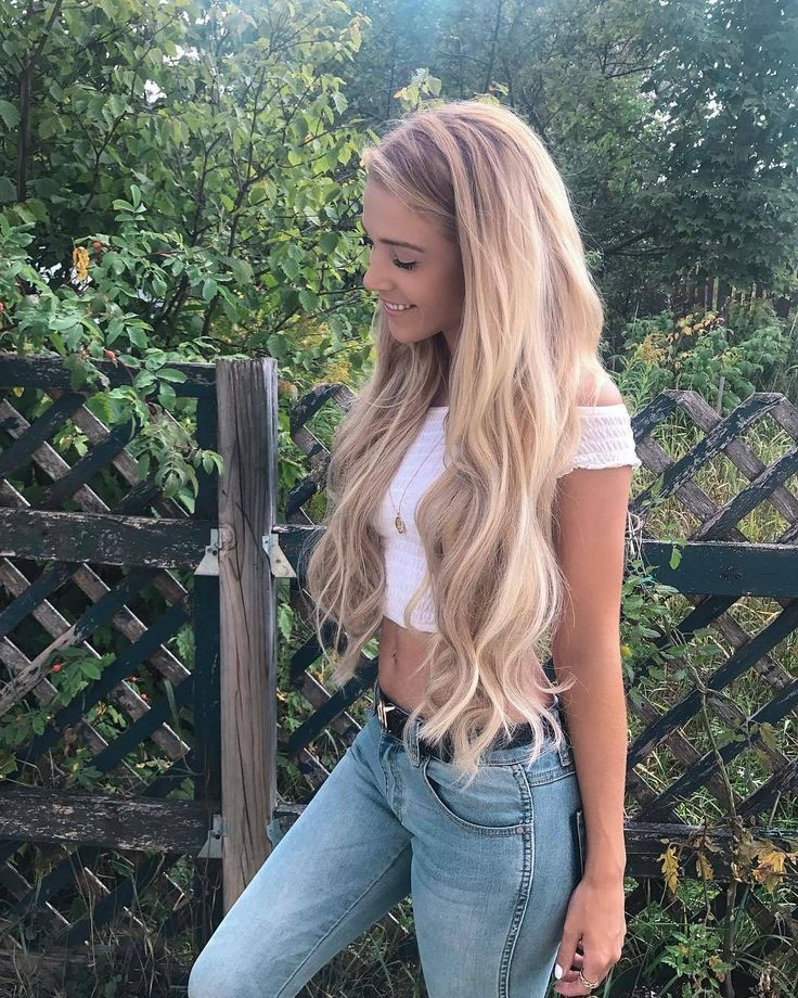 48 Blonde and Wavy Long Hair Styles 2019 for Females