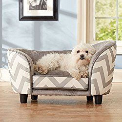 Dog Sofa Bed Couch Furniture Elevated Plush Toy Storage Pooch Mat Comfy