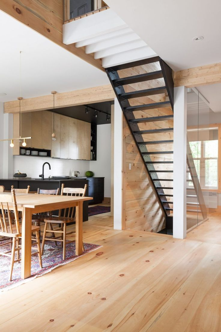 House design ladder - M Lissa Ohnona Preserves Nicks And Scratches In Revamp Of Montreal Home Stair Ladderstaircase Designhouse