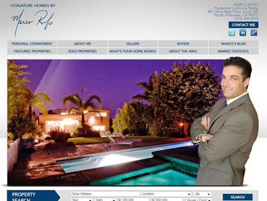 Website Real Estate Desain Terbaik - Marco Rufo - Pacific Palisades, CA